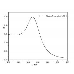Gold nanoparticles, 0,6 mg/mL aqueous colloidal solution,...